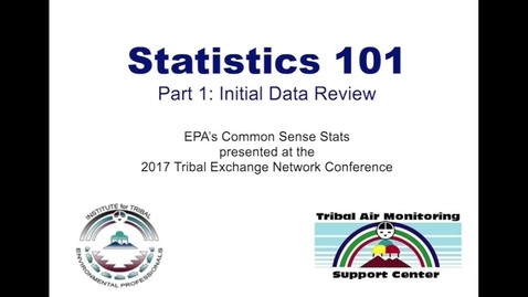 Thumbnail for entry Statistics 101, Part 1: Initial Data Review