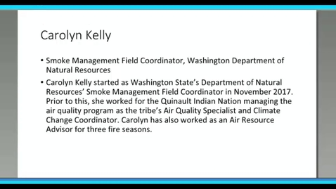 Thumbnail for entry Where There's Wildland Smoke – There Are Air Resource Advisors – Carolyn Kelly