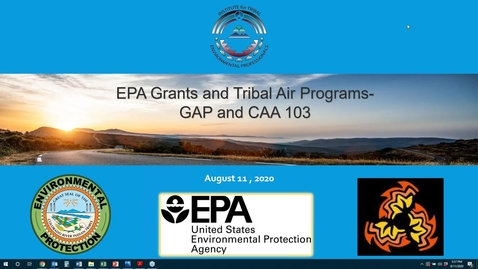 Thumbnail for entry EPA Grants and Tribal Air Quality Programs - GAP and CAA 103