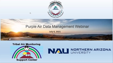 Thumbnail for entry Purple Air Data Management 7/6/21