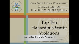 Thumbnail for entry Top Ten Hazardous Waste Violations