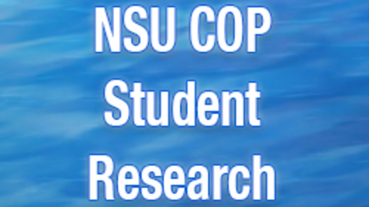 Thumbnail for channel NSU COP Student Research