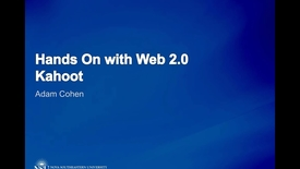 Thumbnail for entry Hands on with Web 2.0 - Kahoot