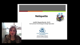 Thumbnail for entry Judith Netiquette 2017