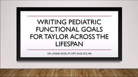 Thumbnail for entry Case Solution: Writing Pediatric Functional Goals