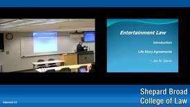 Thumbnail for entry Winter 2019 - Entertainment Law - Law 1048 - garon - 01/09/19