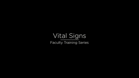 Thumbnail for entry Vital Signs Updated