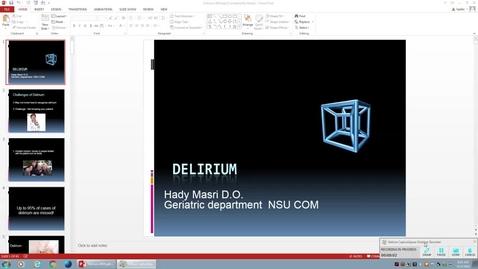 Geriatrics - Delirium 4/12/16 9:00am