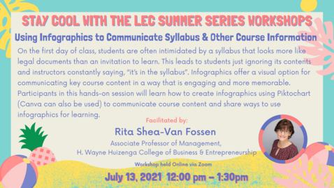 Thumbnail for entry LEC Summer Series: Using Infographics to Communicate Syllabus and Other Course Information