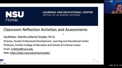 Thumbnail for entry Reflection Activities & Assessments