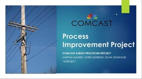 2017 Practicum Online Section Comcast AsBuilt