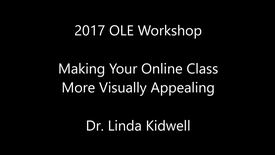 Thumbnail for entry Visually Appealing Online Classes