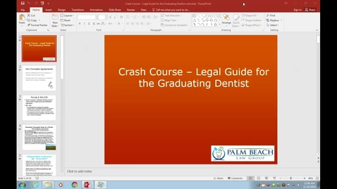 Crash Course - Legal Guide for the Graduating Dentist