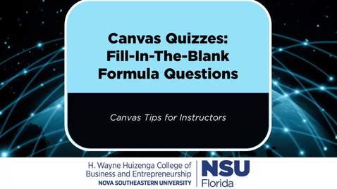 Thumbnail for entry Canvas FITB Formula Questions