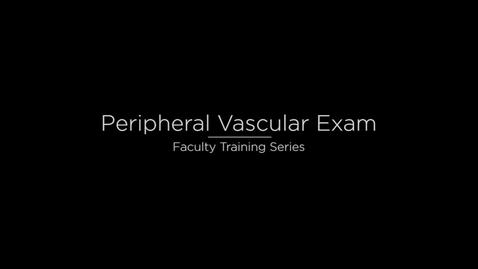 Thumbnail for entry Peripheral Vascular System
