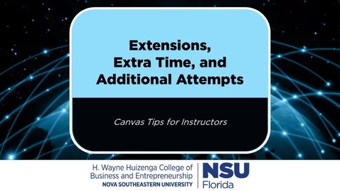 Thumbnail for entry Canvas - Extensions, Extra Time, and Additional Attempts