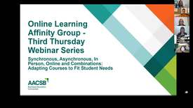 Thumbnail for entry 2019 02 20 AACSB Online Learning Affinity Group
