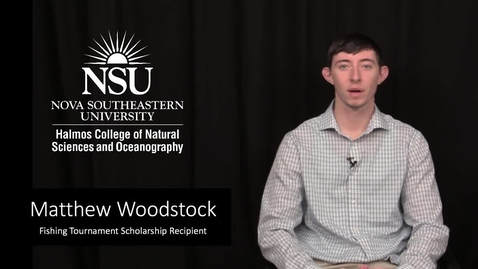 Fishing Tournament Scholarship Recipient Matthew Woodstock Interview