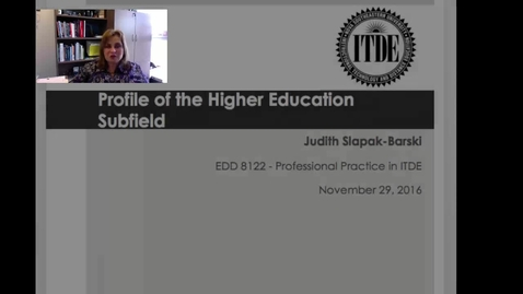 Profile of Higher Education Subfield of ITDE
