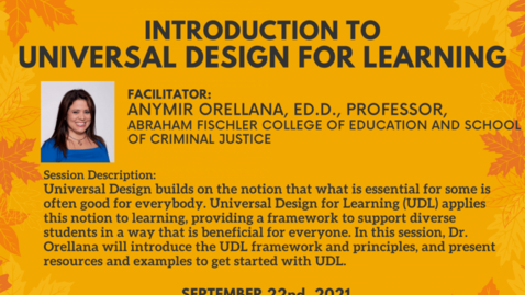 Thumbnail for entry Introduction to Universal Design for Learning