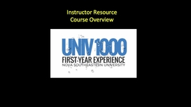 Thumbnail for entry UNIV1000 Instructor Resources Course Overview by Dr. Molly Scanlon