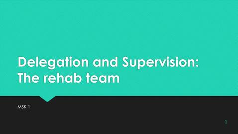 Thumbnail for entry MS1 10b. Delegation and Supervision