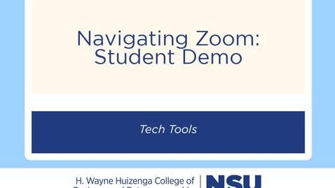 Zoom Student Demo