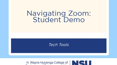 Thumbnail for entry Zoom Student Demo