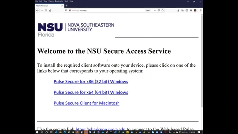 Virtual Private Network / Remote Desktop