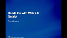 Thumbnail for entry Hands on with Web2.0 QUIZLET