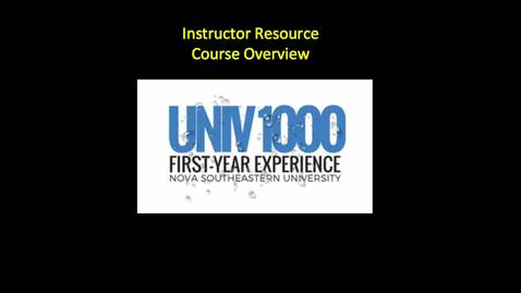 Instructor Resources Course Overview, by Dr. Molly Scanlon