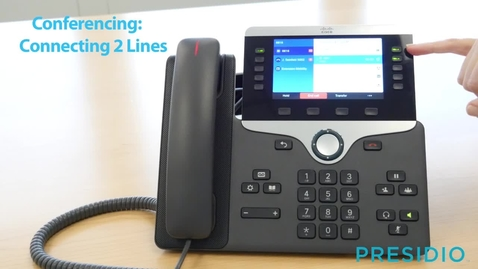 Thumbnail for entry 8851-Conferencing-Connecting 2 Lines