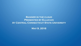 Thumbnail for entry Banner in the Cloud Presentation- May 9, 2016