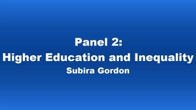 Thumbnail for entry Panel 2 Subira Gordon