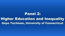 Thumbnail for entry Panel 2 Gaye Tuchman