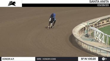 Honor A.P. Worked 5 Furlongs in 1:00.20 at Santa Anita Park on March 28th, 2020