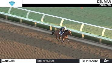 Aunt Lubie Worked 5 Furlongs in 1:00.80 at Del Mar on August 14th, 2020