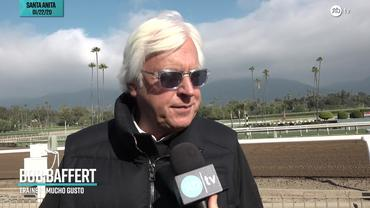 Bob Baffert Talks About Mucho Gusto Ahead of the Pegasus World Cup