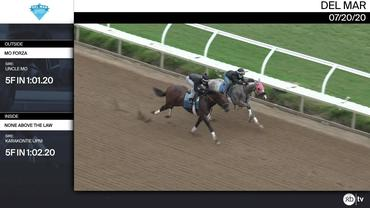 Mo Forza (Outside) and None Above The Law Worked 5 Furlongs at Del Mar on July 20th, 2020