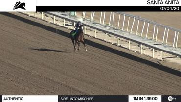 Authentic Worked 1 Mile in 1:39.00 at Santa Anita Park on July 4th, 2020