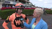 Jose Ortiz Said He Had a Perfect Trip Aboard Spectacular Me in the Distaff Dash at Gulfstream Park on December 3rd, 2016