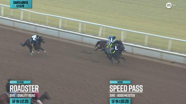 Roadster (Outside) and Speed Pass Worked at Santa Anita Park on November 15th, 2019