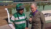 Victor Espinoza Talks With Zoe Cadman About His Return to Riding at Santa Anita Park