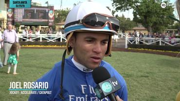 Joel Rosario Discusses Accelerate and Catapult Ahead of Pegasus World Cup Day at Gulfstream Park