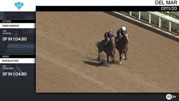 Zimba Warrior (Outside) and Bordeaux Red Worked 5 Furlongs in 1:04.80 at Del Mar on July 11th, 2020