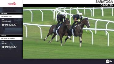 Delaware (Outside) and Front Run the Fed Worked 5 Furlongs in 1:02.47 at Saratoga on August 2nd, 2020