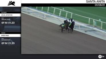 Cruel Intention (Outside) and Speed Pass Worked 6 Furlongs in 1:11.20 at Santa Anita Park on January 6th, 2021