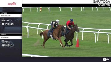 Mirabell Mei (Outside) and Pure Wow Worked 4 Furlongs in 51.21 at Saratoga on August 2nd, 2020