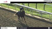 Eight Rings Schooled at the Gate and Galloped at Saratoga on July 31st, 2020