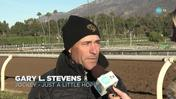 Gary Stevens Discusses His Mount Aboard Just a Little Hope in the La Brea Stakes